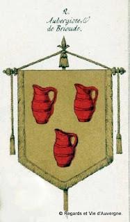 Armoiries des aubergistes de Brioude, Haute-Loire.