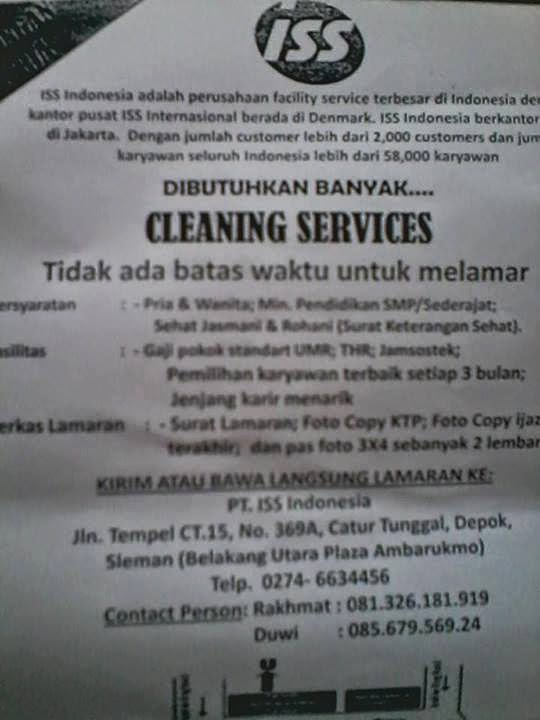 Cara Melamar Di Pt Iss : melamar, Syarat, Melamar, Kerja, Cleaning, Service