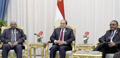 مباحثات مغلقة بين قادة مصر والسودان وإثيوبيا بمقر إقامة السيسى