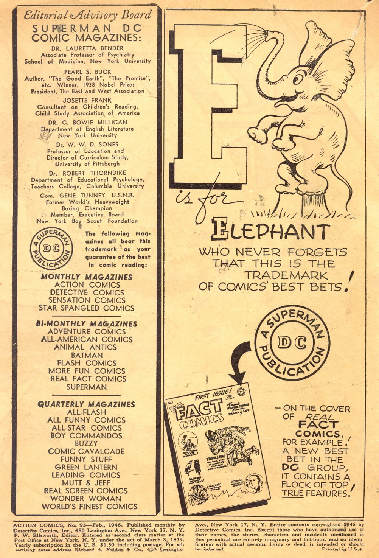 Action Comics (1938) 93 Page 1