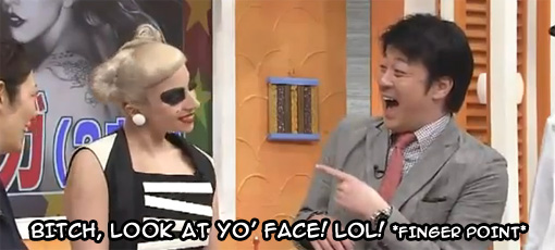 Lady Gaga's Panda make-up on Japanese national TV | WTF?