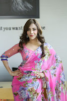 Actress Angela Krislinzki in Pink Saree Blouse Exclusive Pics March 2017 ~  113.JPG