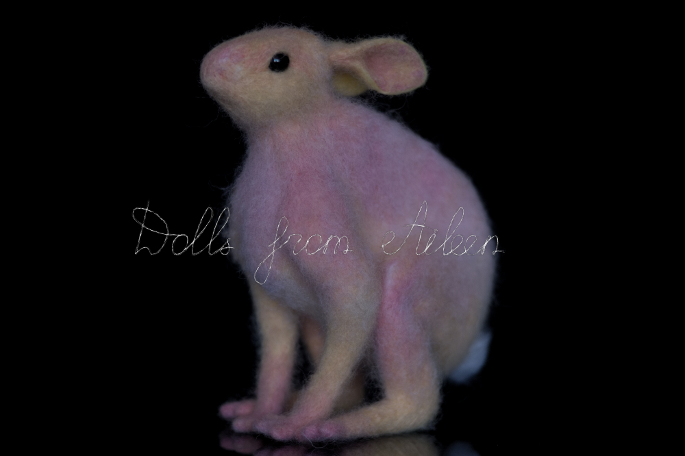 ooak needle felted woolen hare