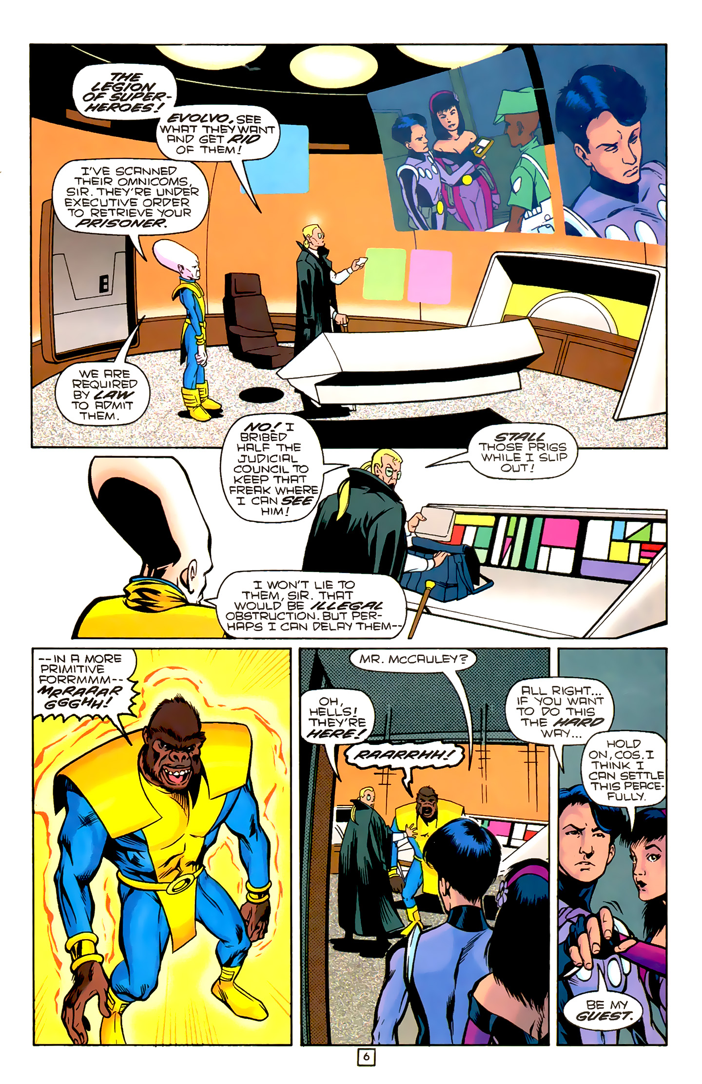 Legion of Super-Heroes (1989) 78 Page 6