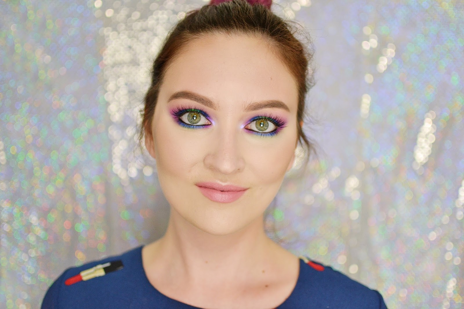 chabrowo fioletowe smoky eye tutorial
