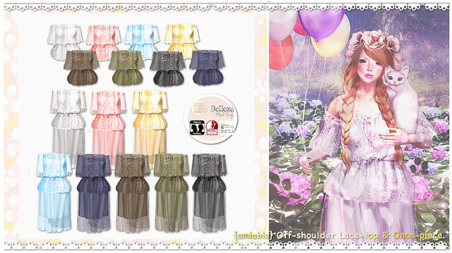 {amiable}Off-shoulder Lace-top & One-piece@the Chapter Four(50%OFF SALE).