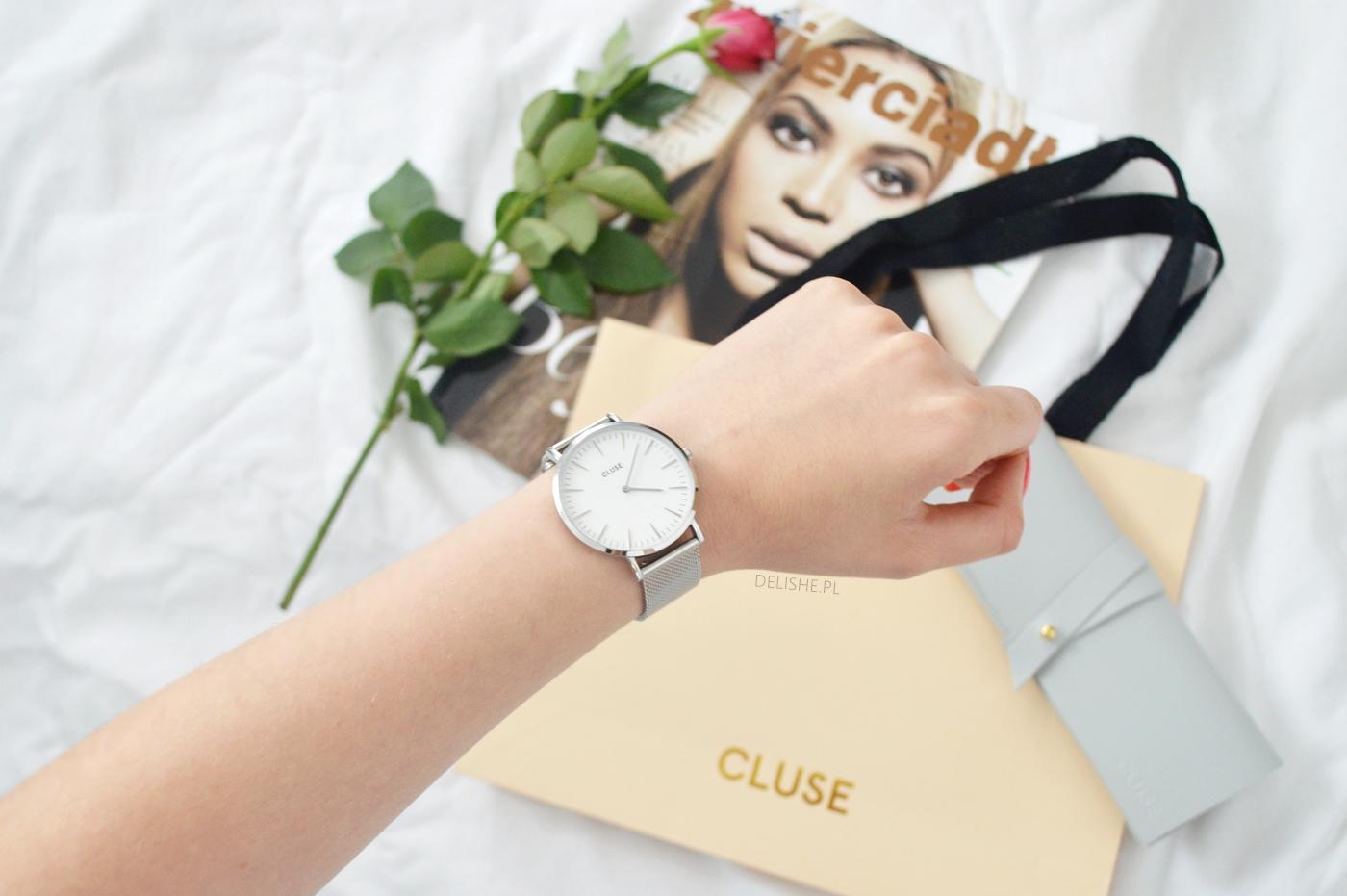 zegarek cluse srebrny na bransolecie