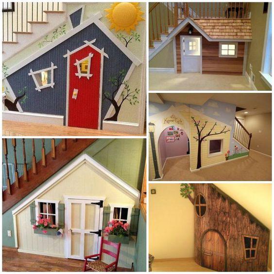 Casas para niños bajo la escalera