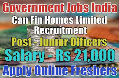 Can Fin Homes Limited Recruitment 2019
