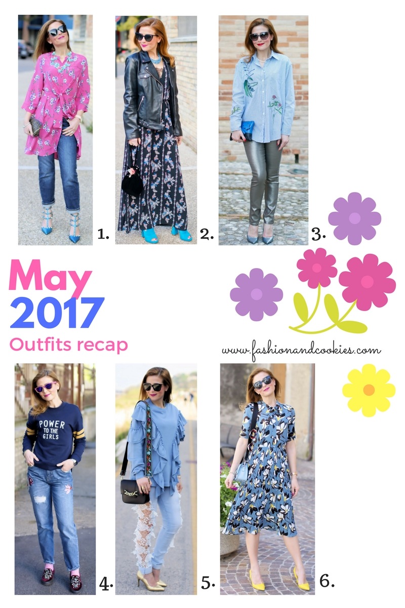 Welcome, June! May 2017 fashion outfits recap on Fashion and Cookies fashion blog, fashion blogger style