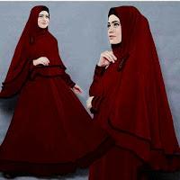 Camelia Maron Hitam 186.000 maxi+bergo Matt Jersey Super lapis furing(no bros) fit L besar