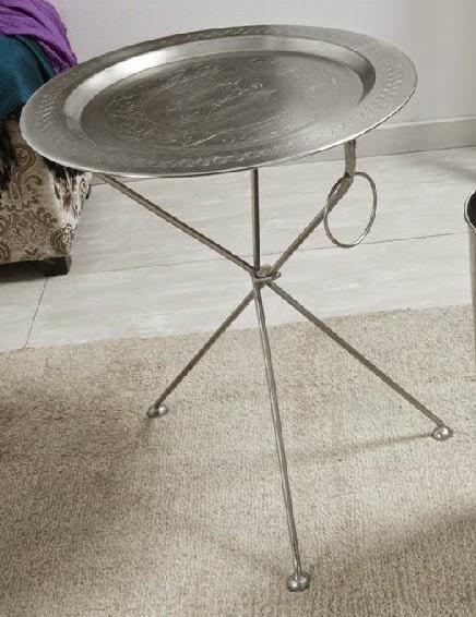 Mesa en plata redonda