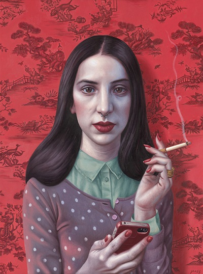 "por Alex Gross - ""Chinese Wallpaper"", 2015."