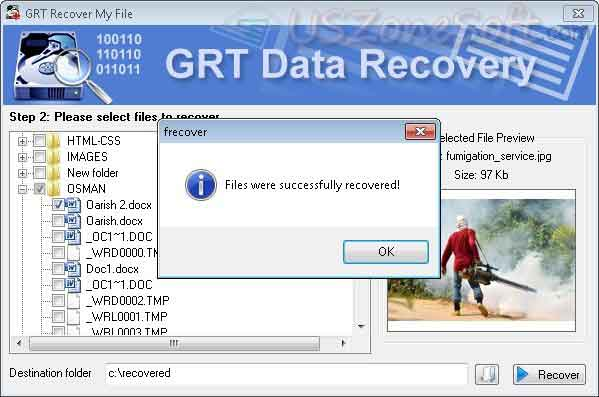 GRT Recover My File screen 2