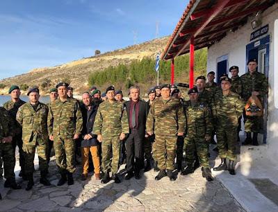 Στρατιωτικό φυλάκιο του Τάγματος Φιλιατών επισκέφτηκε ο αρχηγός του ΓΕΣ (+ΒΙΝΤΕΟ)