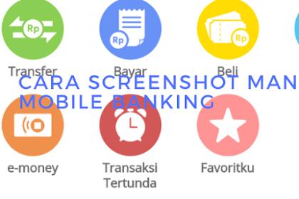 3 cara screenshot mobile banking mandiri