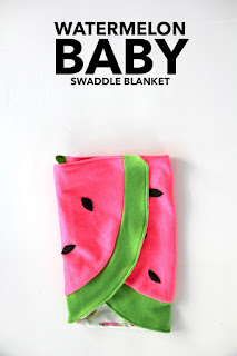watermelon baby blanket