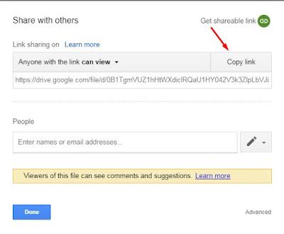 mengirim file lewat Google Drive
