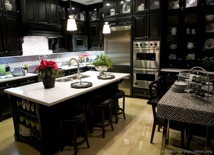 Large luxury black kitchen