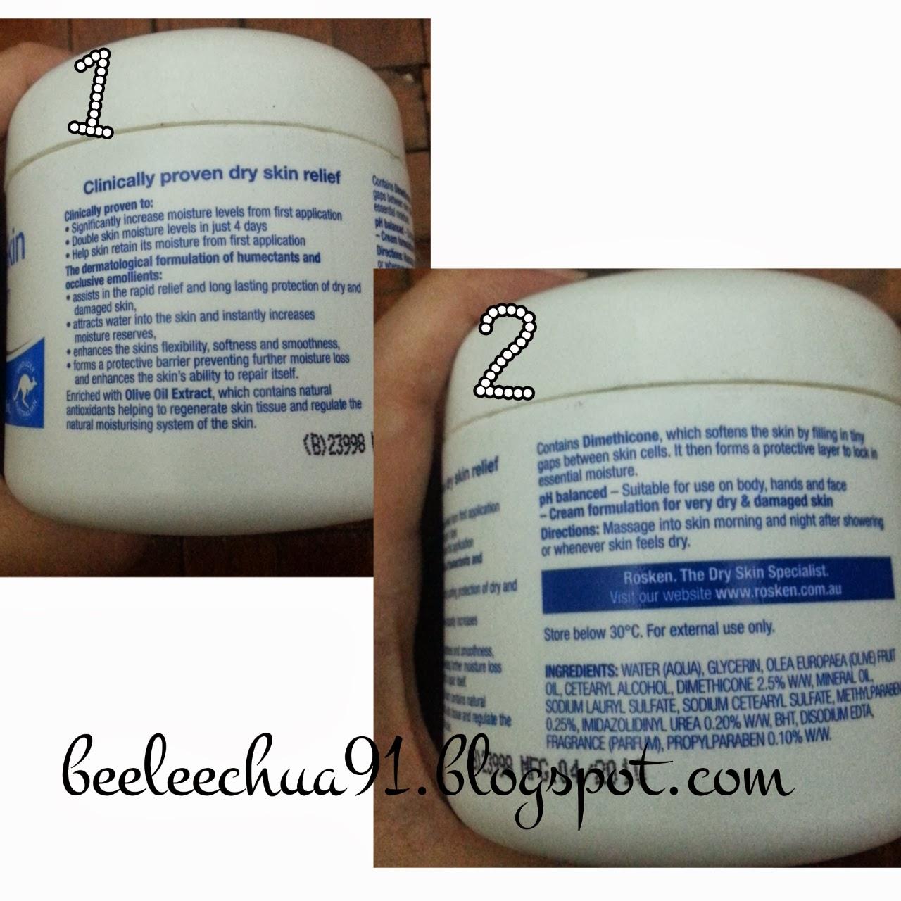 Rosken Dry Skin Cream - Bee Lee C