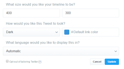 how to customize twitter widget for blogger blog