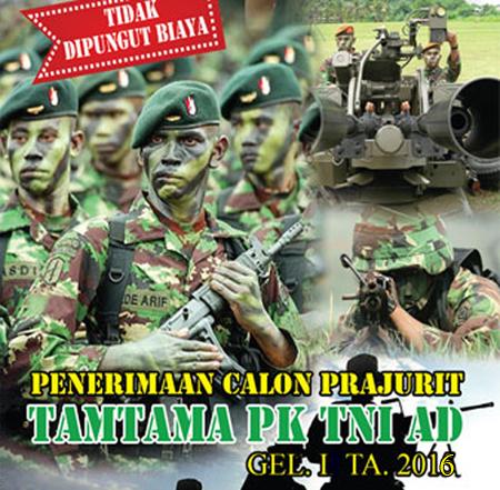 Penerimaan Tamtama PK TNI AD 2016