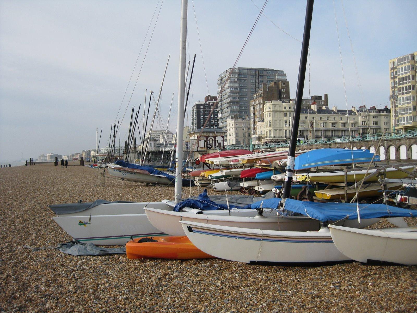 brighton seafront boat beach hove united kingdom travel planning trip