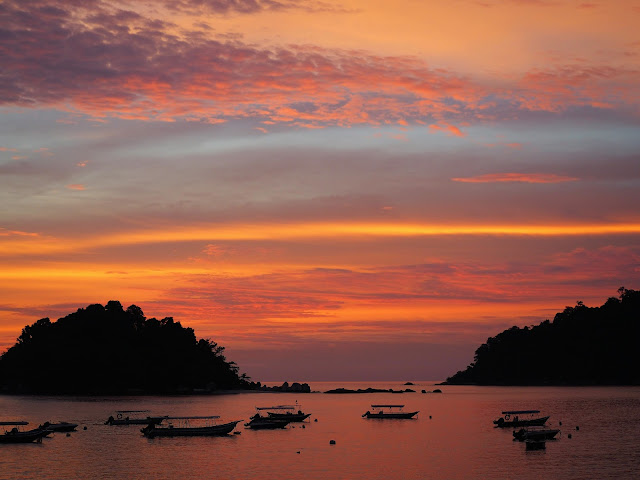 Abenddämmerung Pulau Pangkor