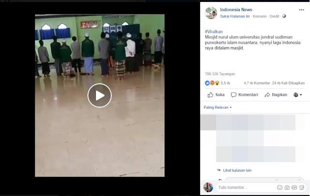 Video Nyanyi Indonesia Raya Sebelum Sholat HOAX Atau Bukan?