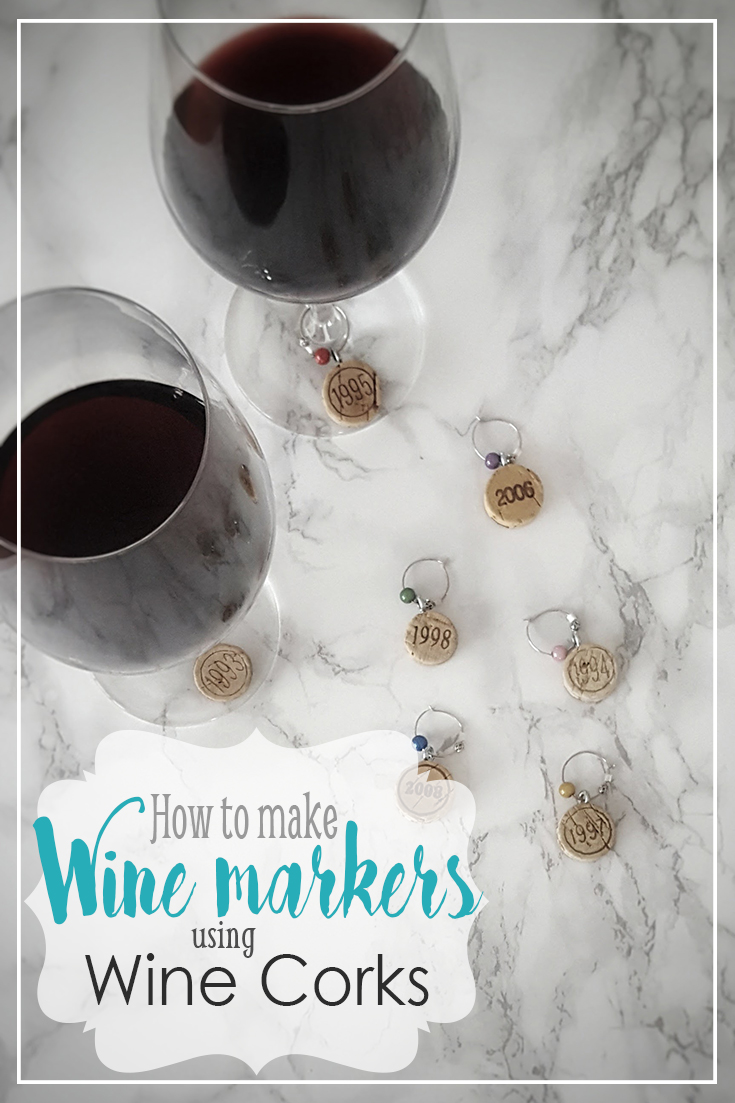 Wine marker glass wine cork wine charms