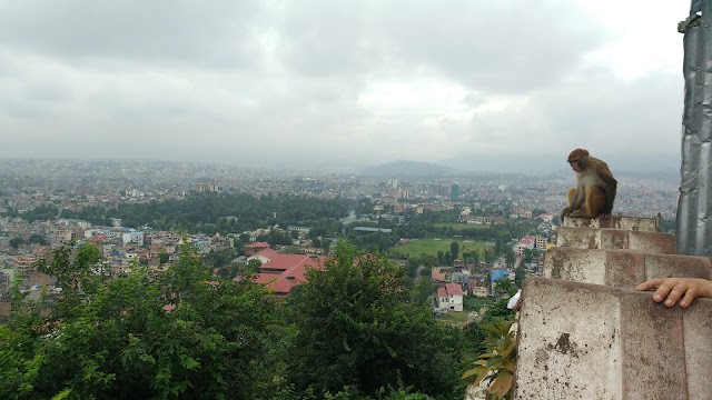 View of the the Kathmandu city