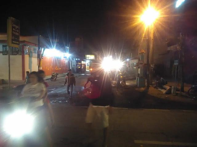 Perbaikan jalan di Simpang Bunut Asahan.