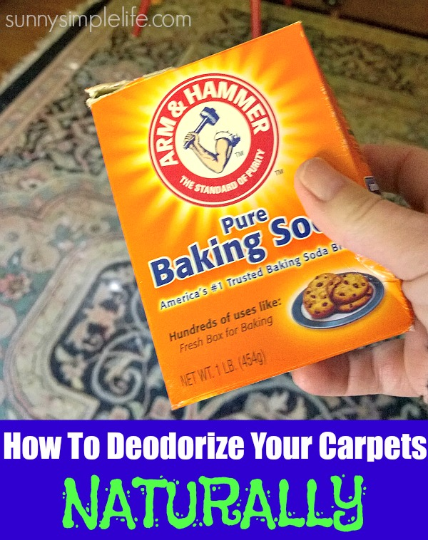 baking soda, area rug, clean house