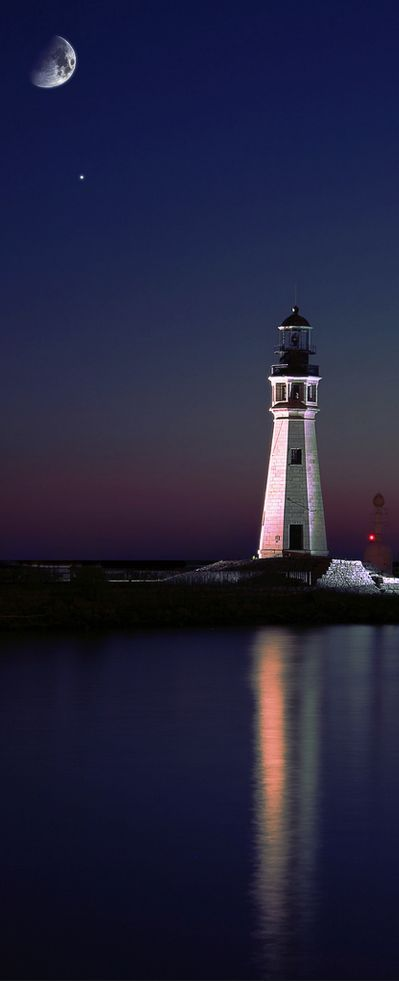 Lake Erie Lighthouse, Buffalo, New York, USA