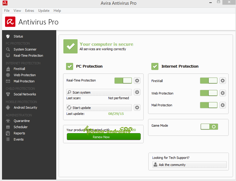 Free Download Avira AntiVirus Pro Terbaru 2017 15.0.18.354 Full terbaru