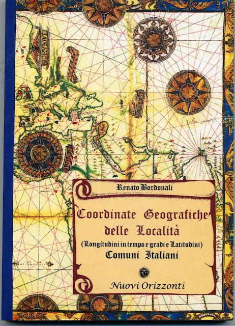Coordinate geografiche delle località di Renato Bordonali