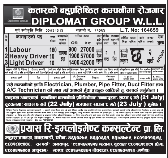 Jobs in Qatar for Nepali, Salary Up to Rs 57,000