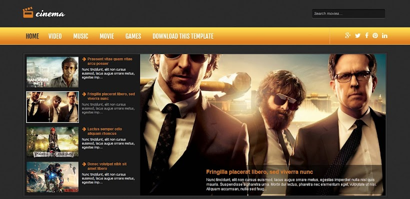 Cinema Free Blogger Template
