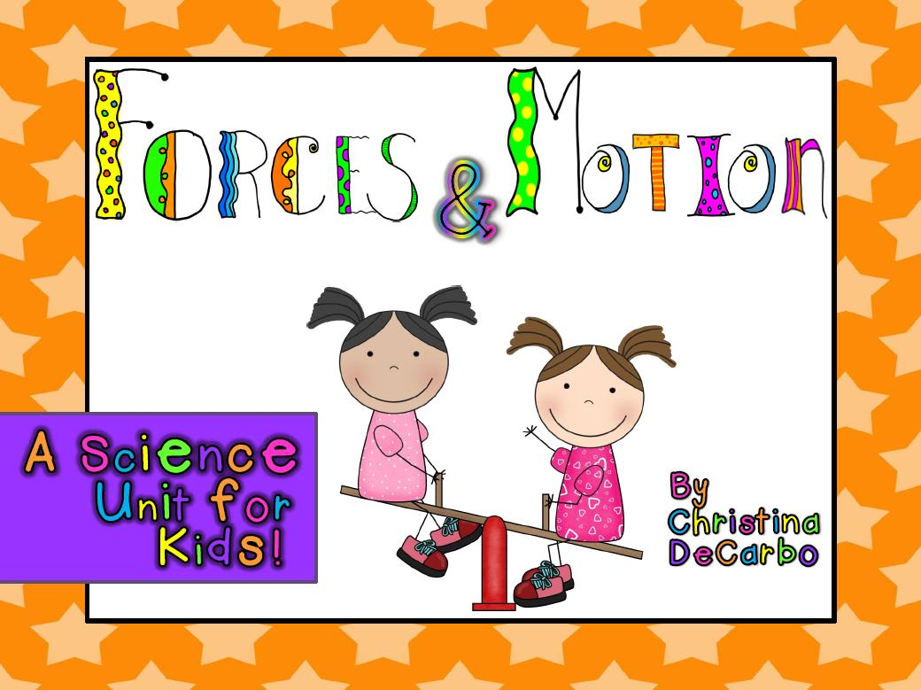 Force Motion Science Unit For Kids Freebie Miss