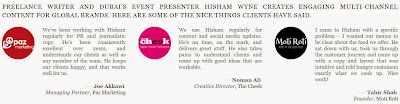what clients say about Hisham