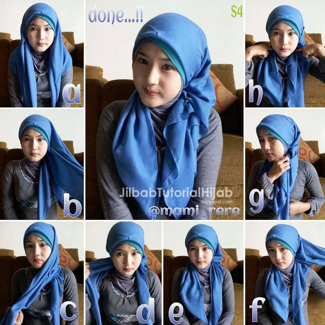 Tutorial Hijab Segi Empat Untuk Pesta Jilbab Tutorial Hijab