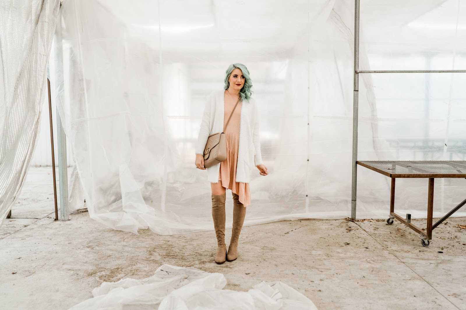 Tall Boots, Pink Dress, Utah Fashion blogger