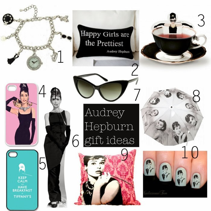 Audrey Hepburn and Breakfast at Tiffany's best gifts