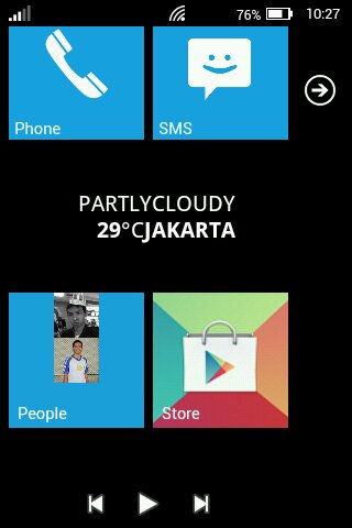 Tampilan Windows Phone