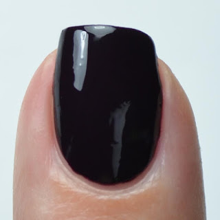 deep purple creme nail polish swatch
