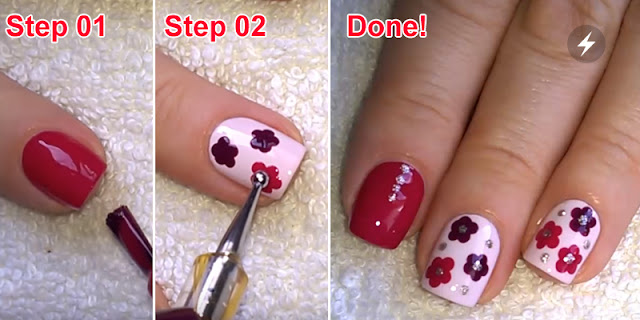 How To Apply Easy Flower Nail Art With Dotting Tools