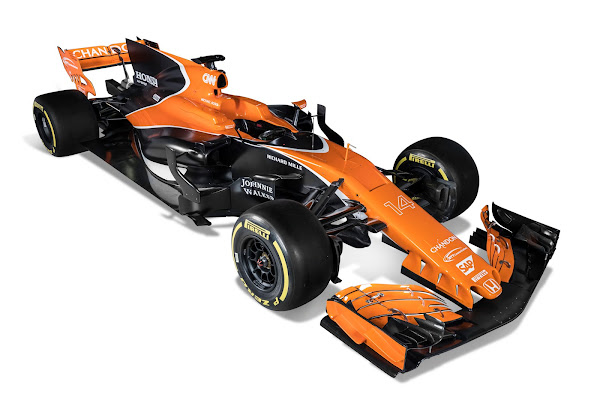 McLaren Honda F1 2017 orange black
