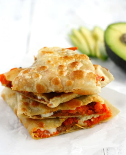 Roasted Sweet Potato and Bean Quesadillas #diet #roasted #potato
