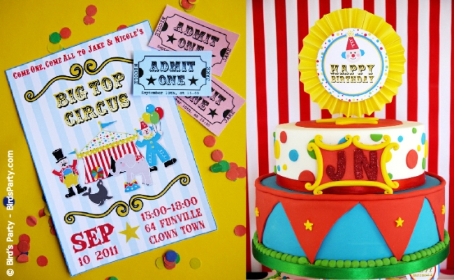 big top circus carnival birthday party