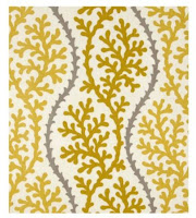 yellow and gray home decor fabric